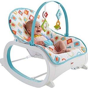 $29 (原价$44.99)Fisher-Price 费雪多功能摇篮/幼儿摇椅 蓝色