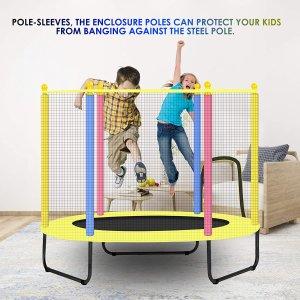 低至7折 扶手蹦床$70.54起儿童蹦床玩具热卖 安全围栏、扶手 随意蹦跳玩耍 室内外皆可