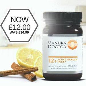 现价£12(原价£34.99)Manuka Doctor 12+美容保健蜂蜜大促