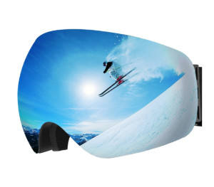 $15OMorc Ski Goggles, Anti-Fog &100% UV400 Protection, OTG Snowboard Goggles with 180° Wide Viewing Angle and Big Spherical Dual Lens