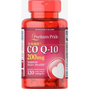 Puritan's PrideQ-SORB™ Co Q-10 200 mg 120 Softgels | Heart Health Supplements | Puritan's Pride