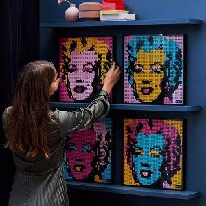 折后€87.9 一套3341颗LEGO 31197 艺术生活系列 玛丽莲梦露 可拼搭出4种不同颜色