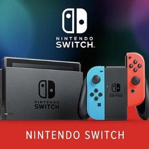 定价低+9折Nintendo Switch 最新续航版红蓝机回货