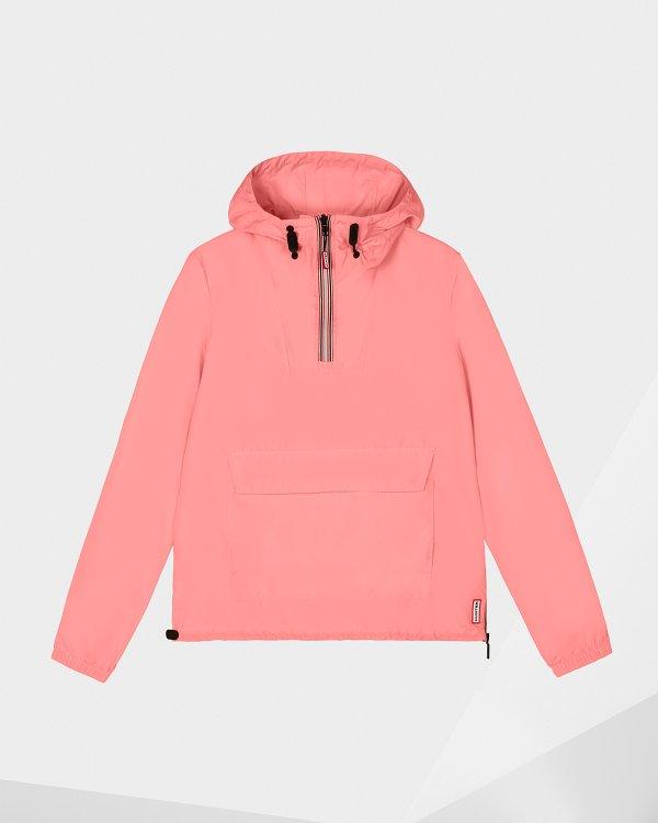 粉色防风卫衣