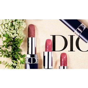 DiorRouge Dior - Mother's Day Limited Edition Couture color lipstick - engraved with words of love - satin, matte and metallic finishes - floral lip care - comfort and long wear