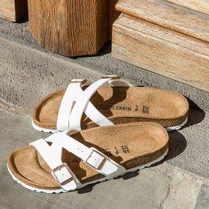 独家6.9折 $36收白色款11.11独家:Birkenstock 经典户外行走拖鞋 沙滩之王就是你