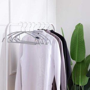 10个售价€17.99 衣服不鼓包Cocomaya 无痕衣架 防滑橡胶涂层 毛衣也不变形 金属承重好