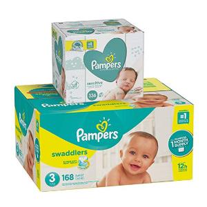 PampersSwaddlers 3号尿布168片+336抽湿巾