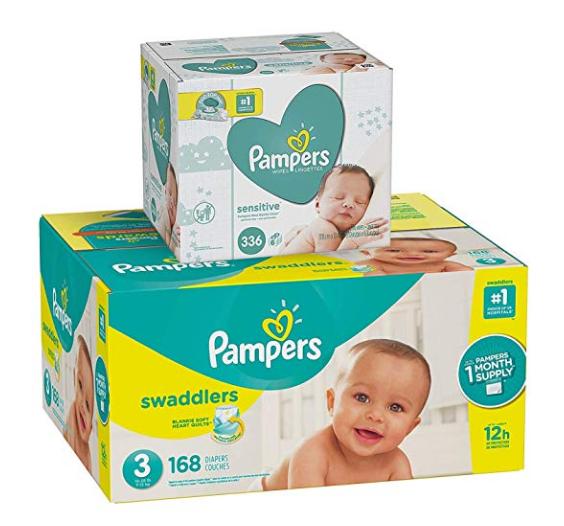 Swaddlers 3号尿布168片+336抽湿巾