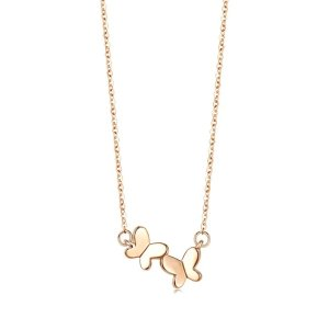 Minty Collection 18K Red Gold Butterfly Necklace | Chow Sang Sang Jewellery eShop