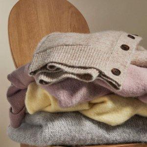 5折+额外8.5折折扣升级:Arket 毛衣针织衫专场 冬日里的那一阵极简风