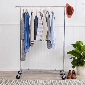 $25AmazonBasics Garment Rack - Chrome