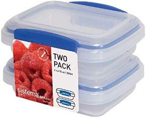$4.79 包邮Sistema 200毫升容量零食保鲜盒 2个