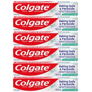 Colgate Baking Soda and Peroxide Whitening Toothpaste Frosty Mint  (6 Pack)