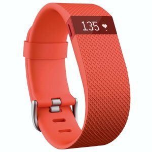 Fitbit Charge HR Wireless Activity Wristband Pink, Large