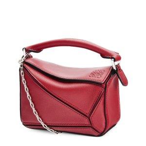 LoeweNano Leather Puzzle Bag | Harrods US