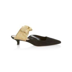 The Row送$75礼卡,或满$1000送$200礼卡- Coco Suede & Grosgrain 穆勒鞋
