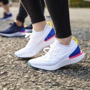 $18起+满额送优惠券Nike Air Max、Flex、澡堂拖等促销