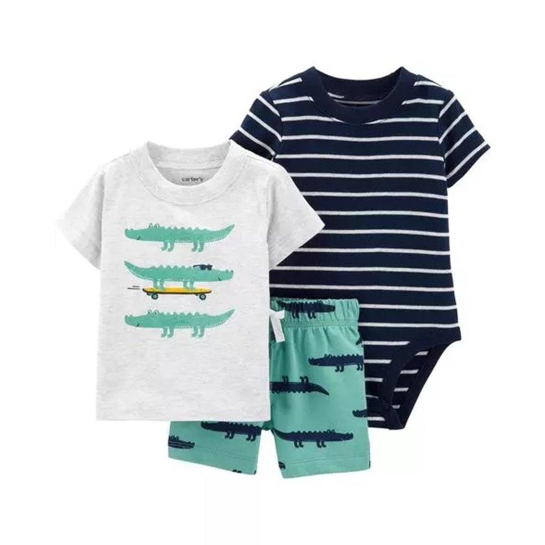 婴儿鳄鱼3件套