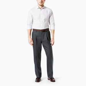 Dockers2 for $75Men's Signature Khaki Pleated Pants, Relaxed Fit