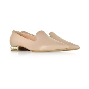 Nicholas KirkwoodBlush Nappa Leather 25mm Casati Pearl Loafer