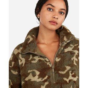 ExpressCamo Sherpa Quarter Zip Sweatshirt