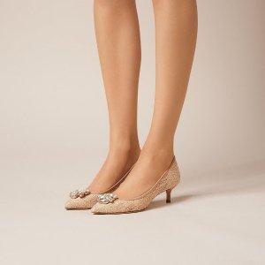 Juliet 蕾丝低跟鞋