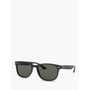 页面显示为折后价Ray-Ban RB2184 Women's Polarised Square Sunglasses, Black/Grey