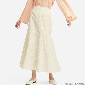 99670b23e3dd UniqloWOMEN SEERSUCKER FLARE LONG SKIRT (HANA TAJIMA). $39.90. Uniqlo WOMEN  ...