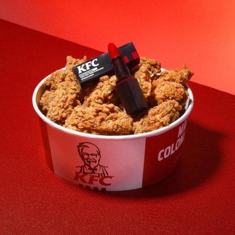小红桶11号KFC 推出鸡翅味口红 全球仅400支 有点逆天