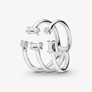 Pandora晶莹冰柱戒指