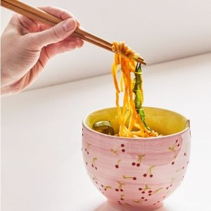 限时低至6折UO精选厨房家居小物热卖 收粉红樱桃面条碗