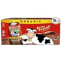 Horizon 巧克力低脂有机牛奶 含DHA Omega-3 18瓶