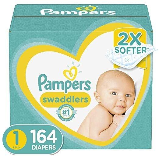 Swaddlers 1号尿不湿,164片,8-14磅