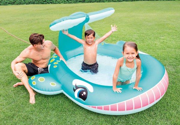 Intex 鲸鱼造型儿童充气泳池