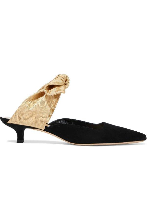 蝴蝶结穆勒鞋