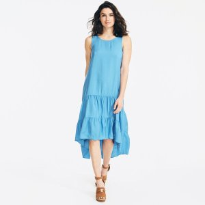 NauticaSUSTAINABLY CRAFTED TIERED HIGH-LOW DRESS