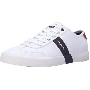 $50.87(原价$76.95)Tommy Hilfiger 男士小白鞋 8-11码 鞋柜必囤款