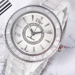 $1995(原价$8000)DIOR VIII 镶钻白陶瓷机械奢华女表特卖