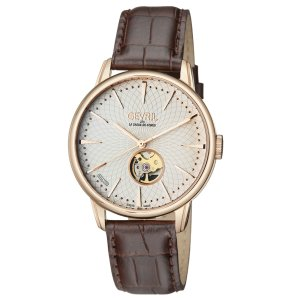GevrilMulberry Open Heart Automatic Men's Watch