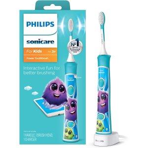 $44.95(原价$60.06)Philops 飞利浦HX6321/02  可充电式儿童电动牙刷