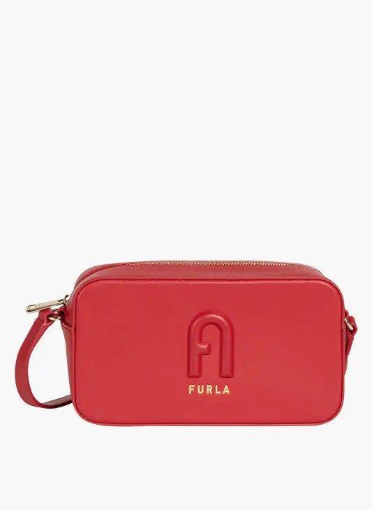 红色logo手拿包
