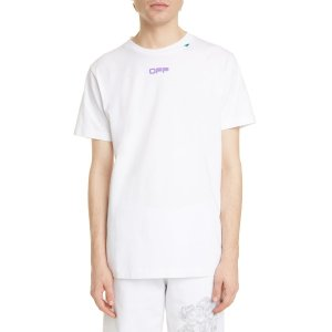 Off-WhitePencil Kiss Graphic Tee