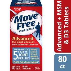 Move Free Advanced Plus MSM and Vitamin D3, 80 count - Joint Health Supplement with Glucosamine and Chondroitin - Walmart.com