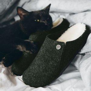 封面羊毛拖鞋$99收Birkenstock 冬季精选美鞋热卖 好看不冻脚