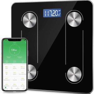 $25.49(原价$35.99)蓝牙电子体重称 自动校准 App同步体脂监控 BMI分析