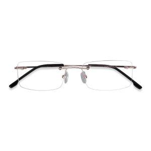 EyeBuyDirect无框眼镜透明无边方框镜