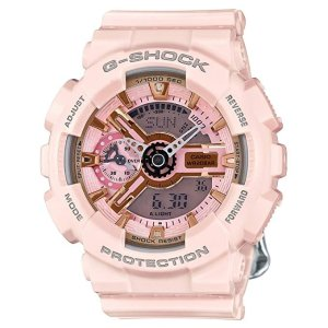 CasioG-Shock Gold and Pink Dial Pink Resin Quartz Ladies Watch GMAS110MP-4A1