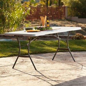 $39.98史低价:Lifetime 6尺便携折叠桌