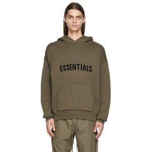 Essentials灰褐色针织卫衣
